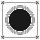 Изолированная картина рамки греческого стиля орнаментальная декоративная греческий орнамент иллюстрация штока