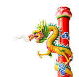 Изолированная китайская скульптура дракона Стоковое Изображение