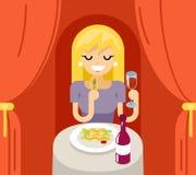 Изолированная концепция значка символа лапшей спагетти макаронных изделий вина обедающего еды итальянская Стоковая Фотография RF