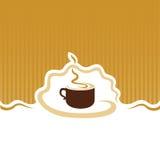изолированная кофе белизна меню Стоковая Фотография RF