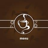 изолированная кофе белизна меню Стоковое фото RF