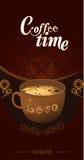 изолированная кофе белизна меню Стоковое Фото
