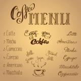 изолированная кофе белизна меню бесплатная иллюстрация