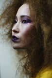 изолированная красоткой белизна портрета Стоковые Изображения