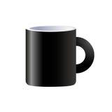 Изолированная кружка вектора черная керамическая Стоковые Фото
