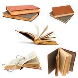 Изолированная крышка открытой предпосылки комплекта книги старая Стоковая Фотография RF