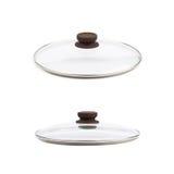 Изолированная крышка сковороды стеклянная Стоковая Фотография RF