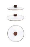 Изолированная крышка сковороды стеклянная Стоковые Изображения