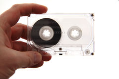 изолированная магнитофонная кассета Стоковые Фотографии RF
