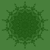 Изолированная мандала вектор орнамента круглый Стоковое фото RF