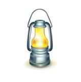 Изолированная масляная лампа на белизне Бесплатная Иллюстрация