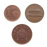 Изолированная монетка Стоковые Изображения