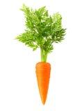 Изолированная морковь Стоковая Фотография RF