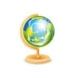 Изолированная модель глобуса земли Иллюстрация штока