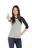 Изолированная модель thumbs вверх по успеху Стоковое Изображение