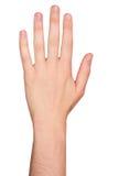 Изолированная мужская рука в положении Стоковые Фотографии RF