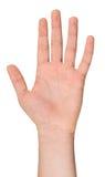 Изолированная мужская рука в положении Стоковые Изображения RF
