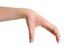 Изолированная мужская рука в положении Стоковые Изображения