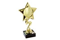 Изолированная награда золота Стоковая Фотография