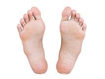 Изолированная нога девушки Стоковые Изображения