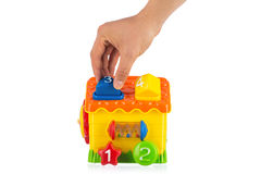 изолированная домом белизна игрушки Стоковые Фото