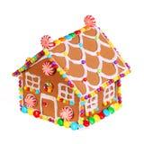 Изолированная дом Gingerbread Стоковые Фото
