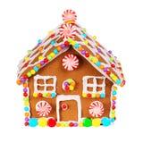 Изолированная дом Gingerbread Стоковое Фото