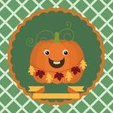изолированная осенью белизна тыквы Стоковая Фотография