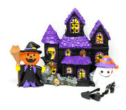 Изолированная партия игрушки дома призрака хеллоуина Стоковая Фотография