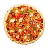 Изолированная пицца стоковое фото