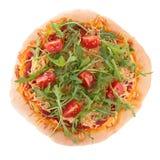 Изолированная пицца Стоковые Фотографии RF