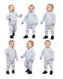 Изолированная последовательность маленького младенца Стоковые Фотографии RF