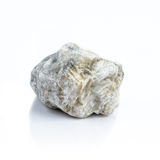 изолированная предпосылка облицовывает белизну Естественные минералы Стоковая Фотография