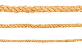 изолированная предпосылкой белизна веревочки веревочки установили различной Стоковое Изображение RF