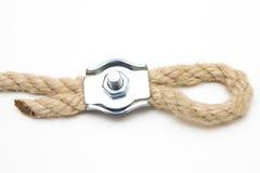 изолированная предпосылкой белизна веревочки предмета петли Стоковое Изображение