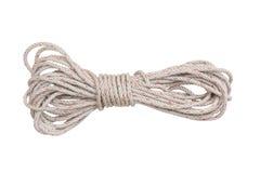 изолированная предпосылкой белизна веревочки Стоковое фото RF