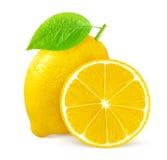 изолированная предпосылкой белизна лимона Стоковые Фото