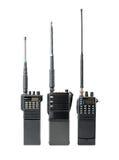 изолированная предпосылкой белизна комплекта портативного радио Стоковые Изображения RF