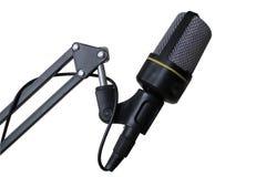 изолированная предпосылкой белизна студии микрофона Стоковое фото RF