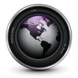 изолированная предпосылкой белизна фото объектива иллюстрация вектора