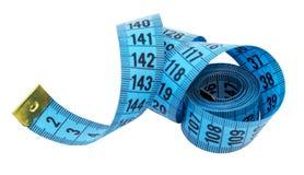 изолированная предпосылкой измеряя белизна ленты портноя Стоковая Фотография RF