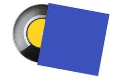 изолированная предпосылкой рекордная белизна винила Стоковые Фотографии RF