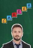 изолированная принципиальная схема карьеры 3d представляет белизну стоковое фото