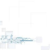 изолированная принципиальной схемой белизна технологии Стоковые Фотографии RF