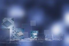 изолированная принципиальной схемой белизна технологии Стоковые Изображения