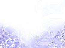 изолированная принципиальной схемой белизна технологии Стоковые Фото