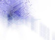 изолированная принципиальной схемой белизна технологии Стоковая Фотография RF