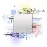 изолированная принципиальной схемой белизна технологии Стоковое Изображение RF