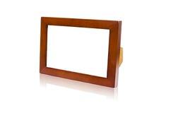 Изолированная простая деревянная рамка Стоковая Фотография