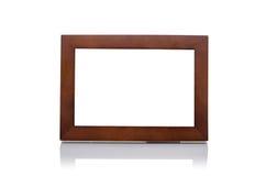 Изолированная простая деревянная рамка Стоковое Изображение RF